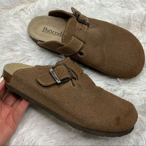 Bjorndal Nola 2 Brown Suede Leather Slip Ons 4c